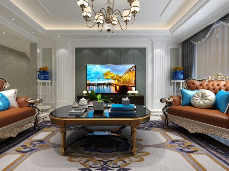 明月豪庭190平复式欧式风格