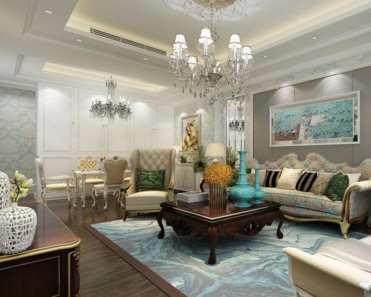 胜宏景苑丰和园三室124平欧式风格