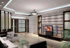 电视背景墙区域灯光怎么设