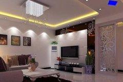 万达华府最新客厅电视背景墙ysb易胜博设计要点